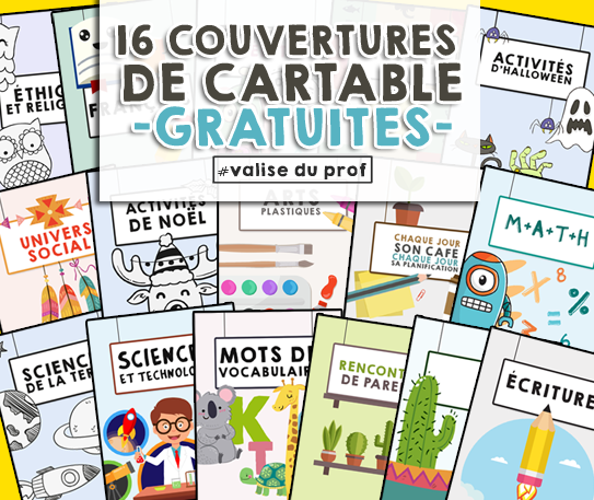 39 Couvertures de cartables