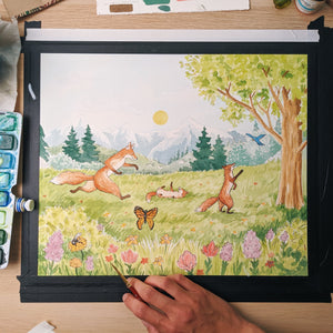 Painting My First Book Illustration | Fairfield Foxes Update 1