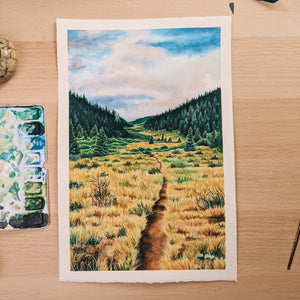 The Colorado Trail - Watercolor Painting Process