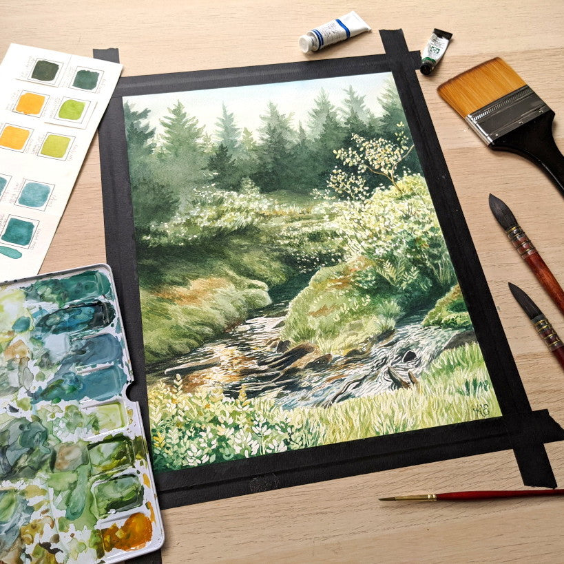 Using Masking Fluid on a Watercolor Landscape - My Thoughts and Tips for you!