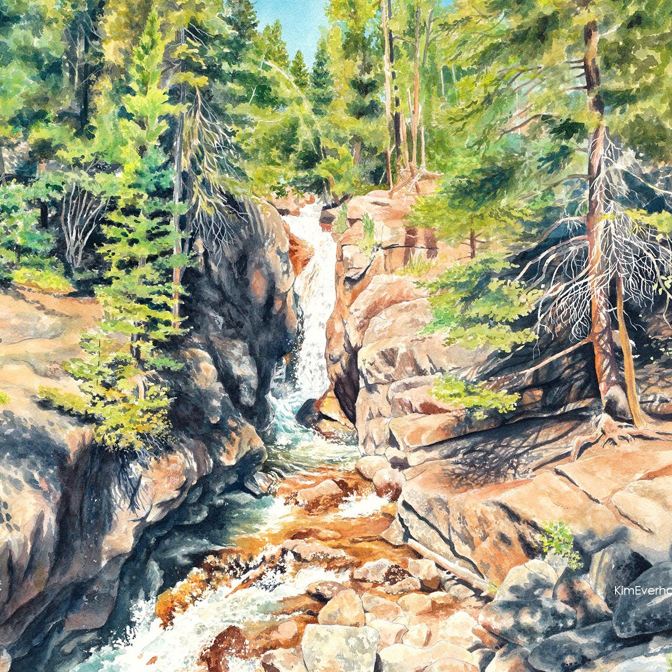 Chasm Falls - Watercolor Process