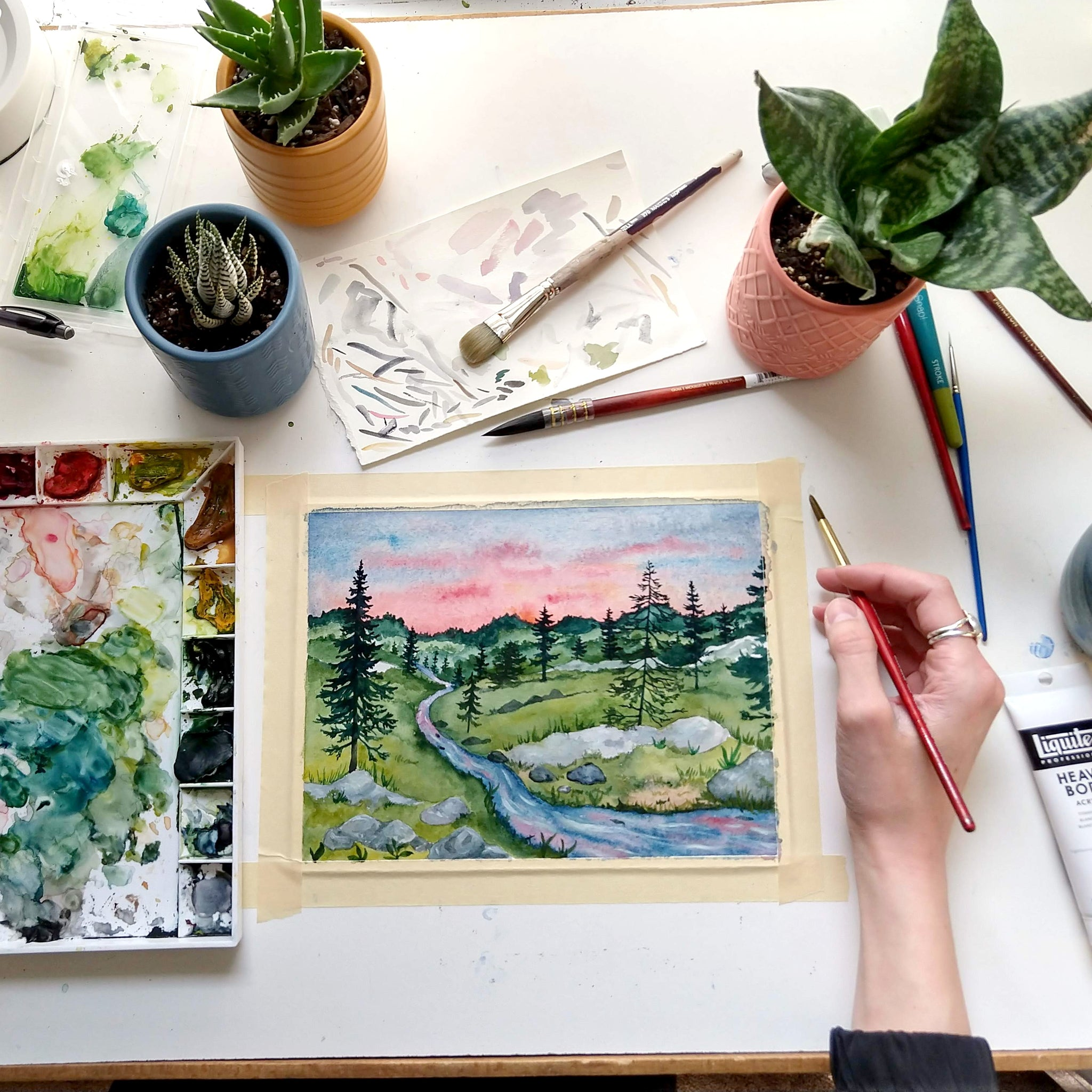 Staying organized in a small art studio