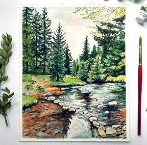 My Watercolor and Ink Process and Go-To Art Supplies