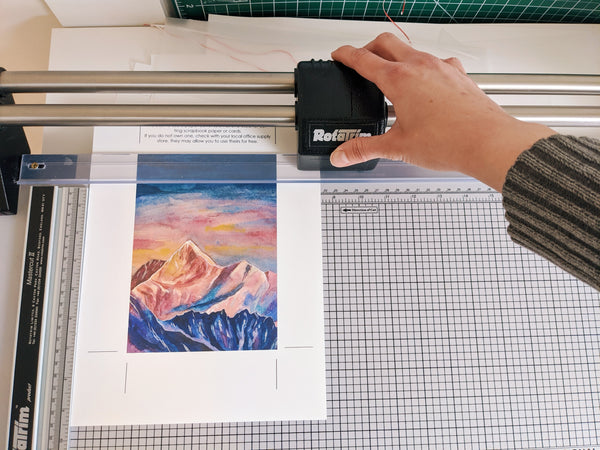 cutting the print down to size