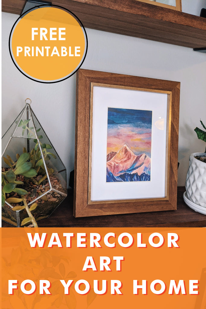 watercolor art for your home free printable