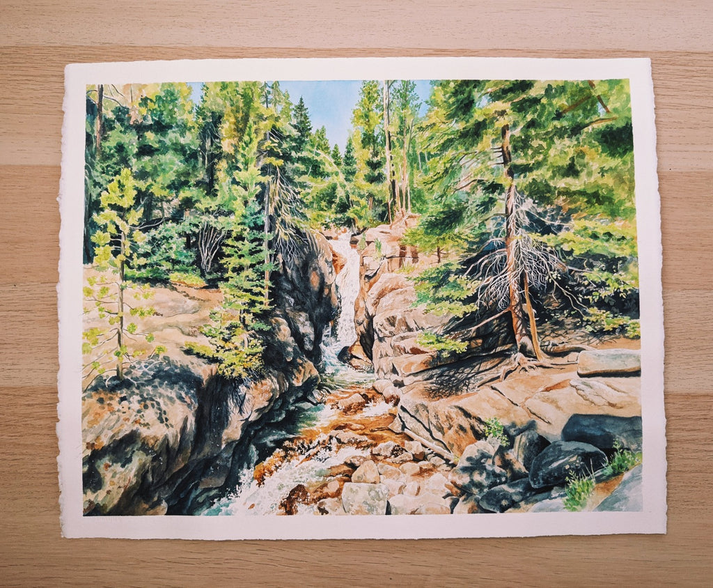 "Chasm Falls - Original Painting - 16""x20"" - Kim Everhard Art"