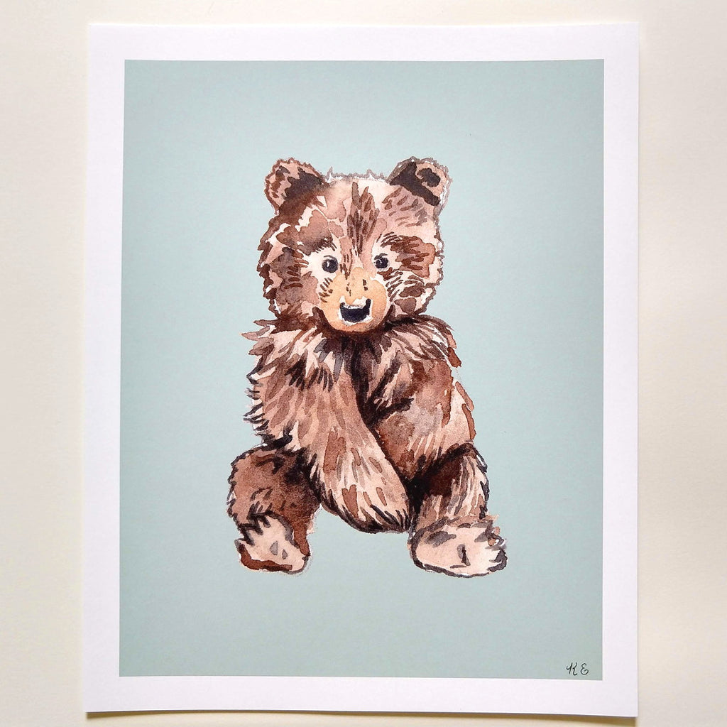 Brown bear - Art Print 8 x 10 - Everhard Designs Nature Art
