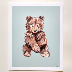 Brown bear - Art Print 8 x 10 - Kim Everhard Art