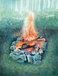 Warmth On A Cool Night - Original Painting - Everhard Designs Nature Art
