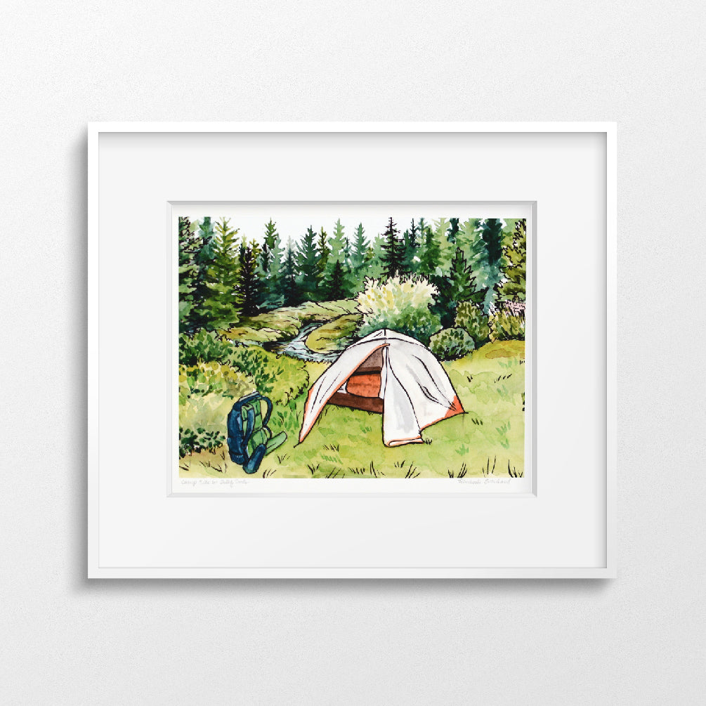 Campsite in Dolly Sods | Fine Art Print - Everhard Designs Nature Art