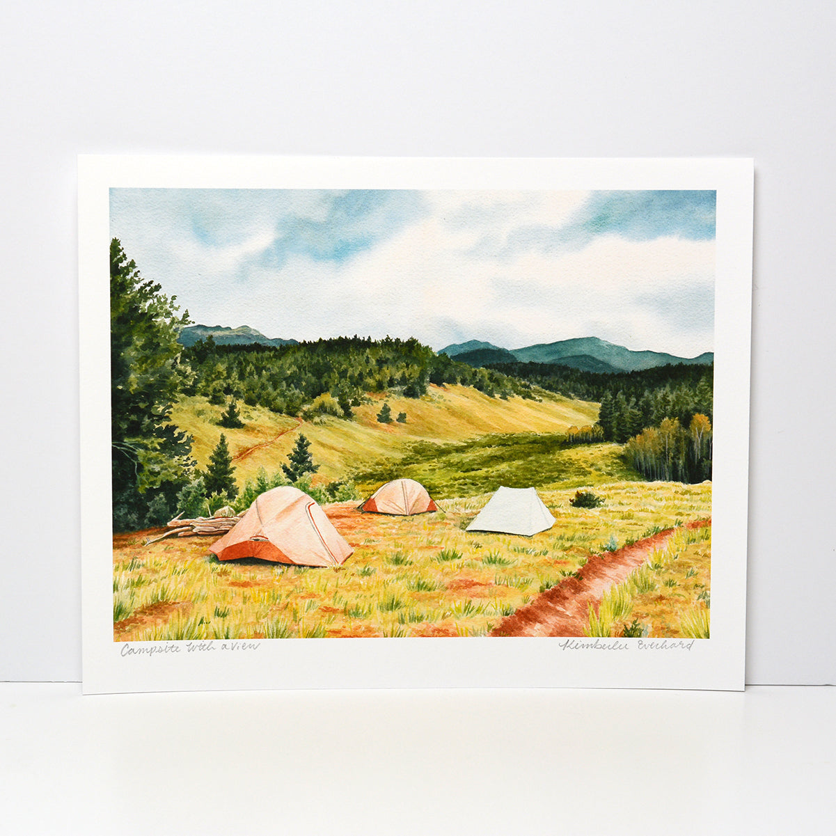 Campsite With A View - Fine Art Print - Kim Everhard Art