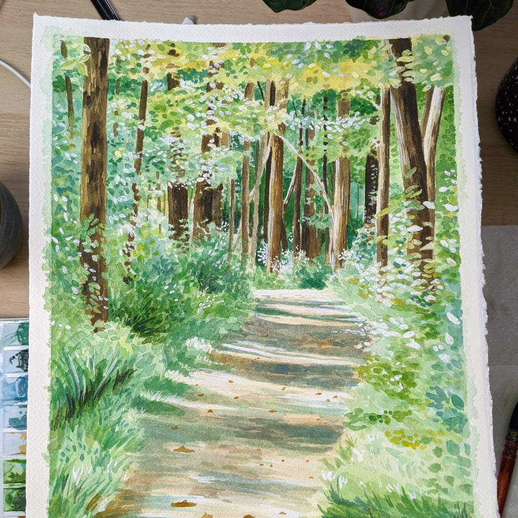 "Summer Trails - Original Painting - 11x14"" - Kim Everhard Art"