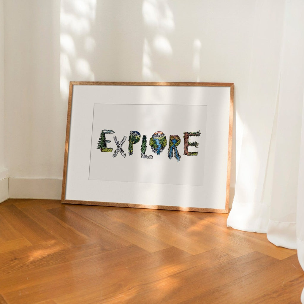 EXPLORE - Fine Art Print - Kim Everhard Art