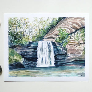 Looking glass falls - Art Print 8 x 10 - Everhard Designs Nature Art