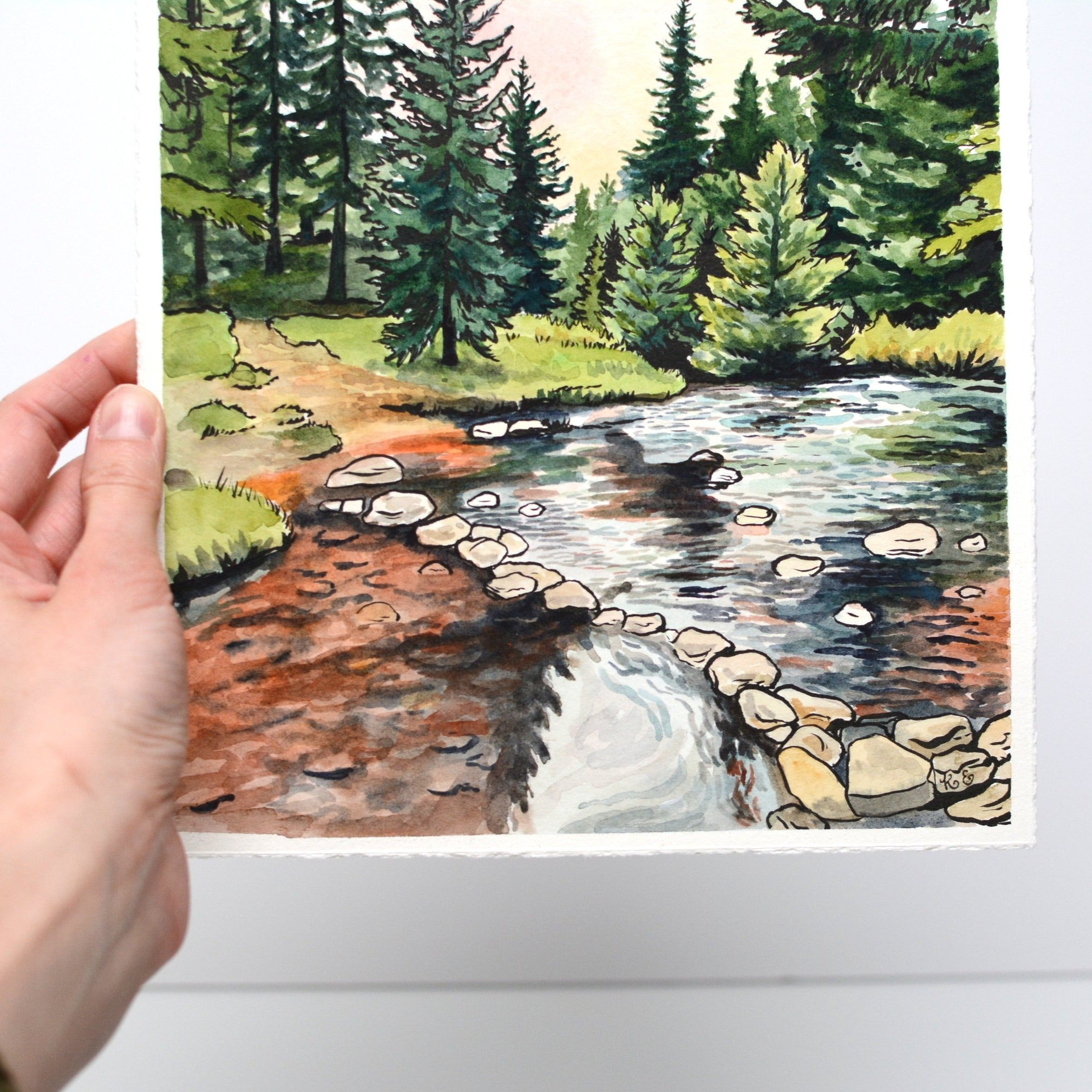 "Hiking in Dolly Sods - Original Painting - 9x12"" - Everhard Designs Nature Art"