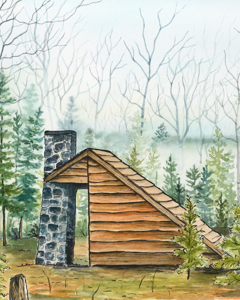 Shelter in the Woods - Original Painting - Everhard Designs Nature Art