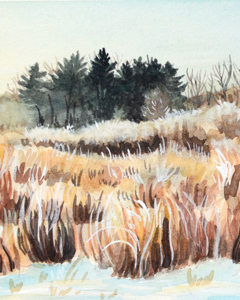 Early Winter Morning in Ohio - Original Painting - Everhard Designs Nature Art