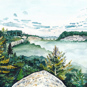 Foggy Morning in Red River Gorge - Fine Art Print - Kim Everhard Art