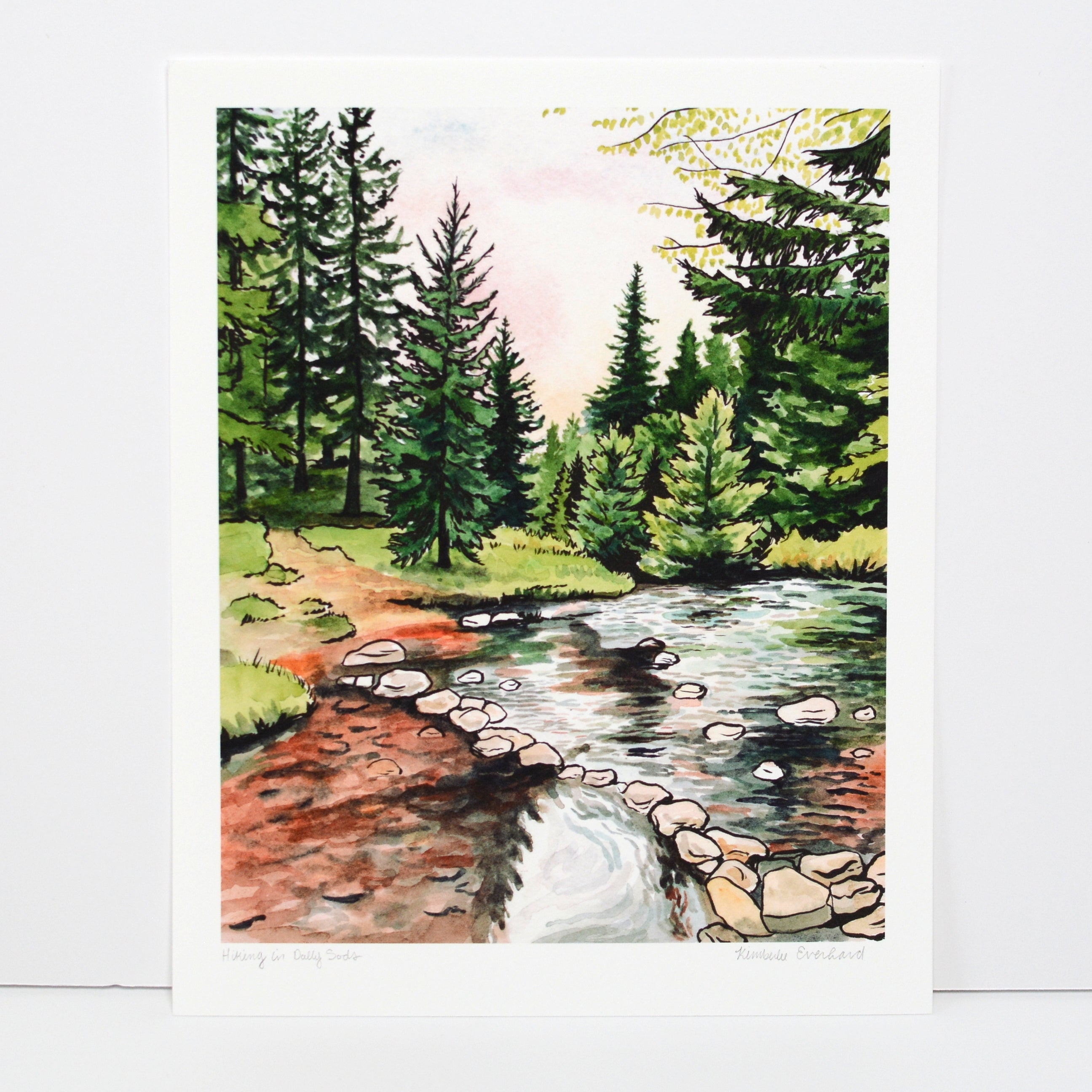 Hiking in Dolly Sods - Art Print - Everhard Designs Nature Art