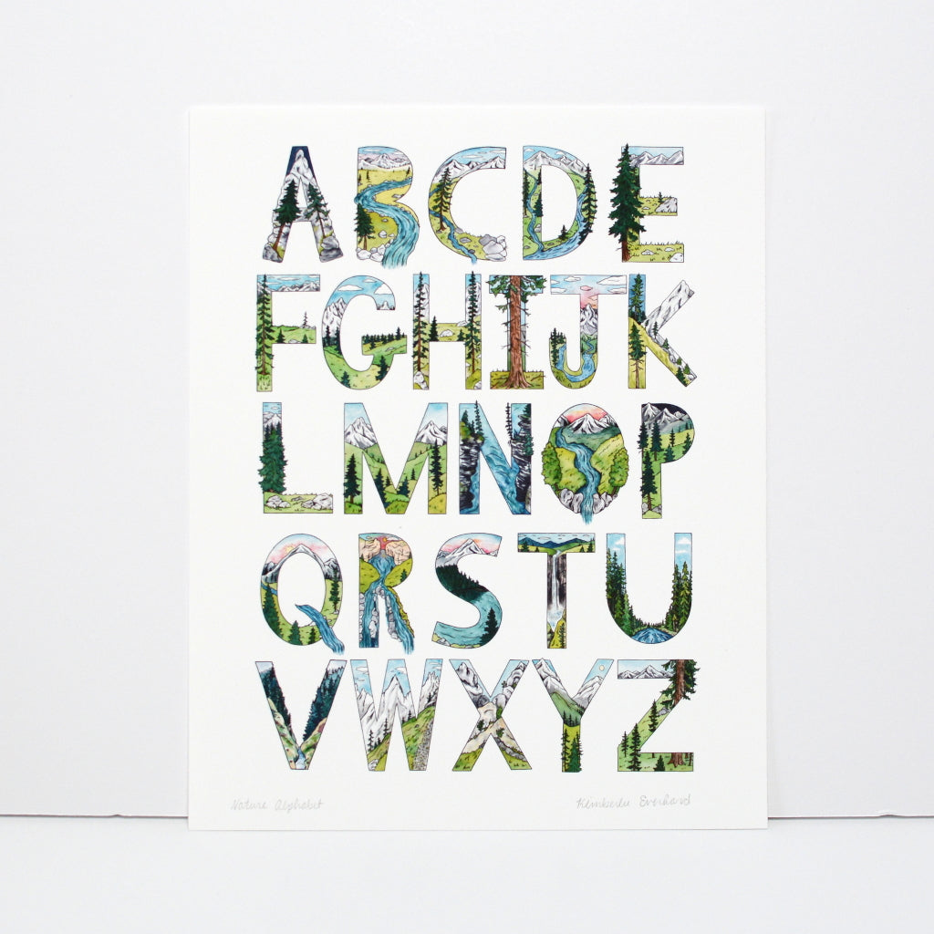 The Explorer's Alphabet - Art Print - Kim Everhard Art