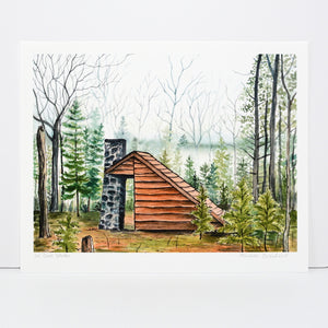 Shelter in the Woods - Art Print - Everhard Designs Nature Art