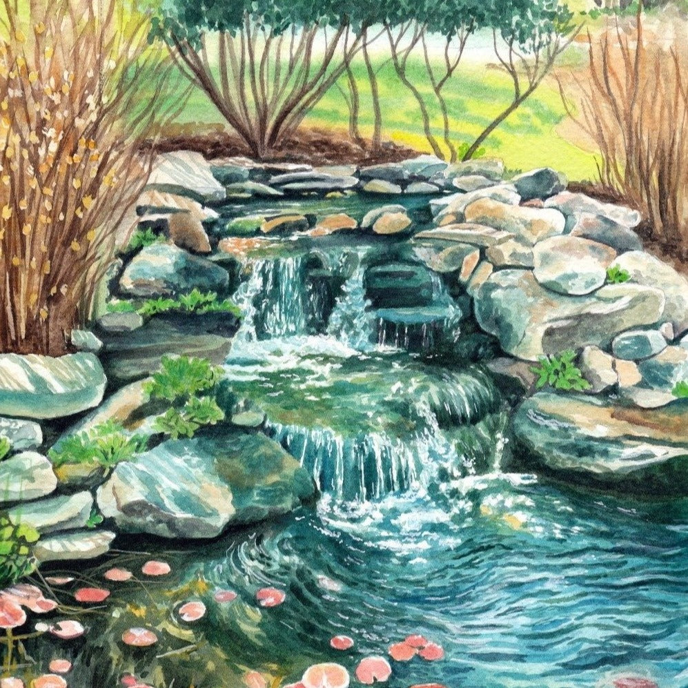 "A Pleasant Pond - Original Painting - 9x12"" - Kim Everhard Art"