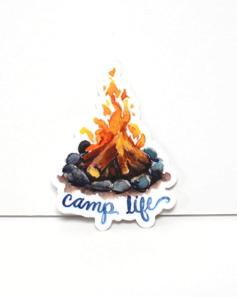 Camp Life - vinyl sticker - Kim Everhard Art