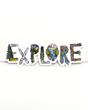 EXPLORE - vinyl sticker - Kim Everhard Art