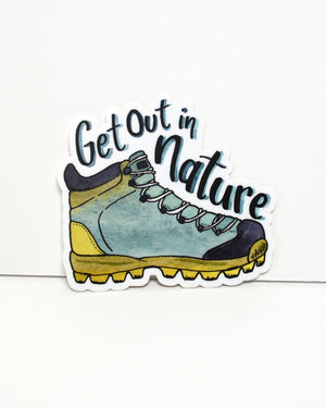 Get Out In Nature- vinyl sticker - Everhard Designs Nature Art
