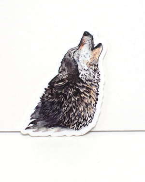 Howling Wolf - vinyl sticker - Kim Everhard Art