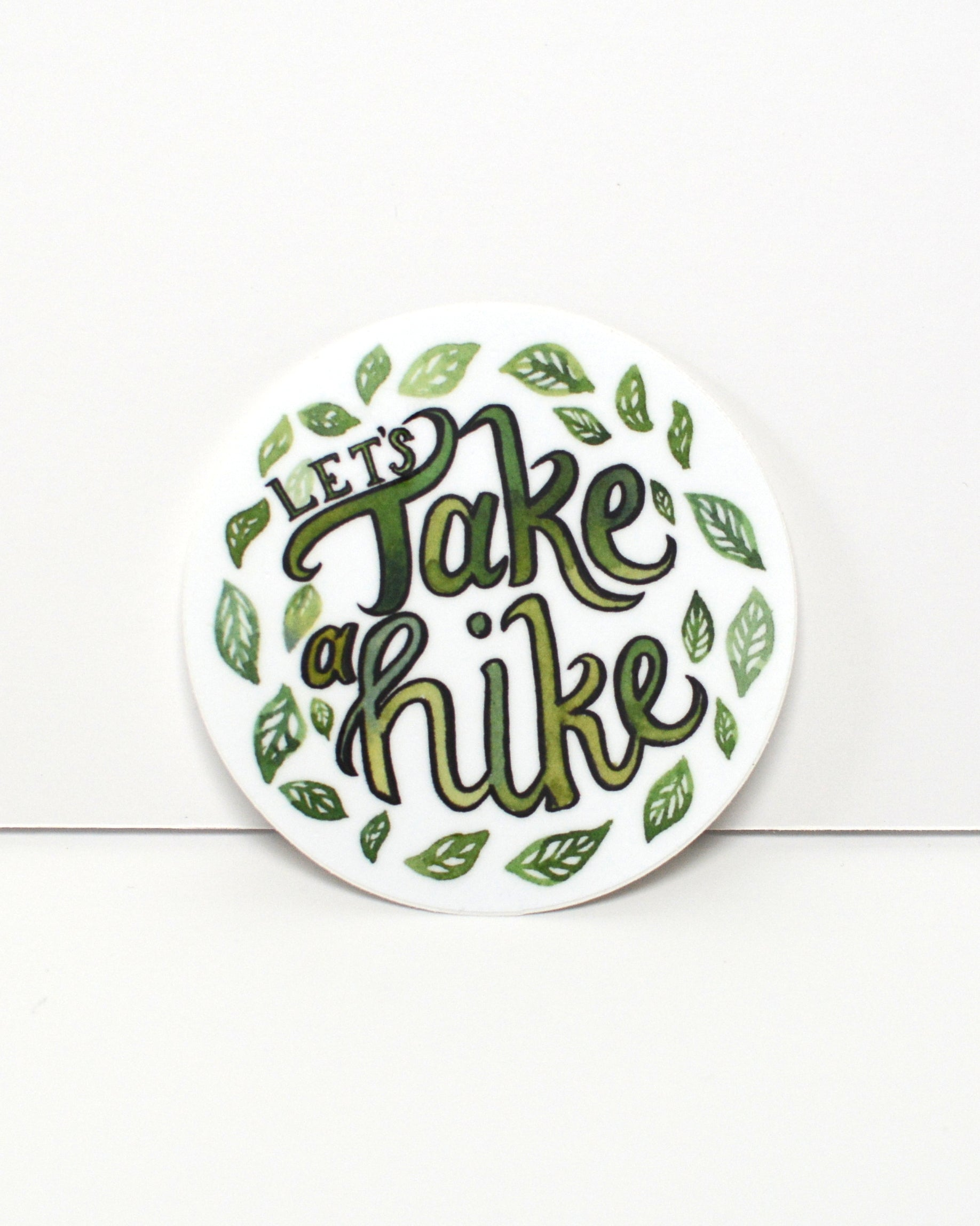Let's Take a Hike - vinyl sticker - Kim Everhard Art