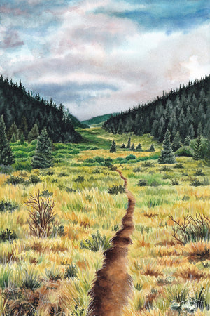 "The Colorado Trail - Original Painting - 11x14"" - Kim Everhard Art"