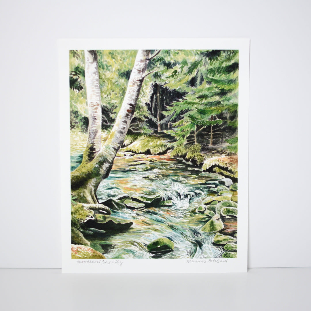 Woodland Serenity - Art Print - Kim Everhard Art
