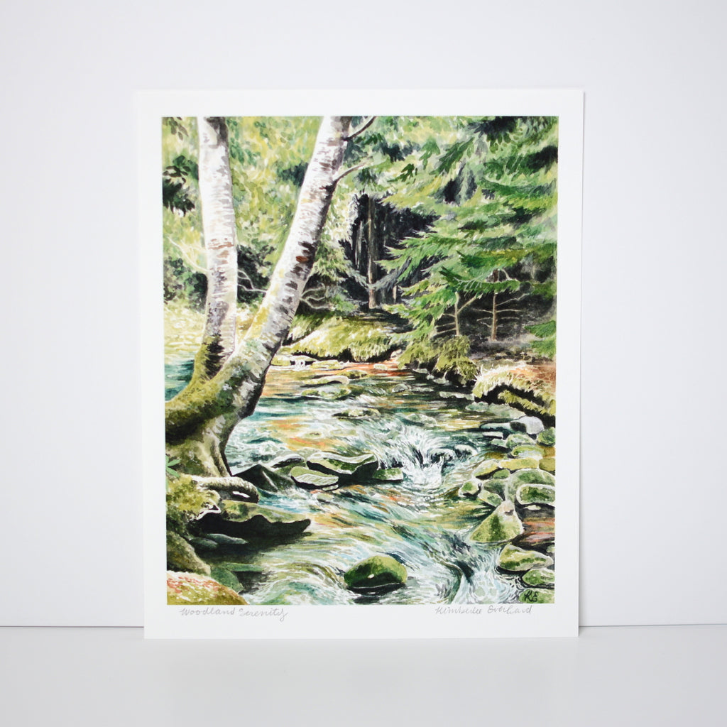 Woodland Serenity - Art Print - Everhard Designs Nature Art