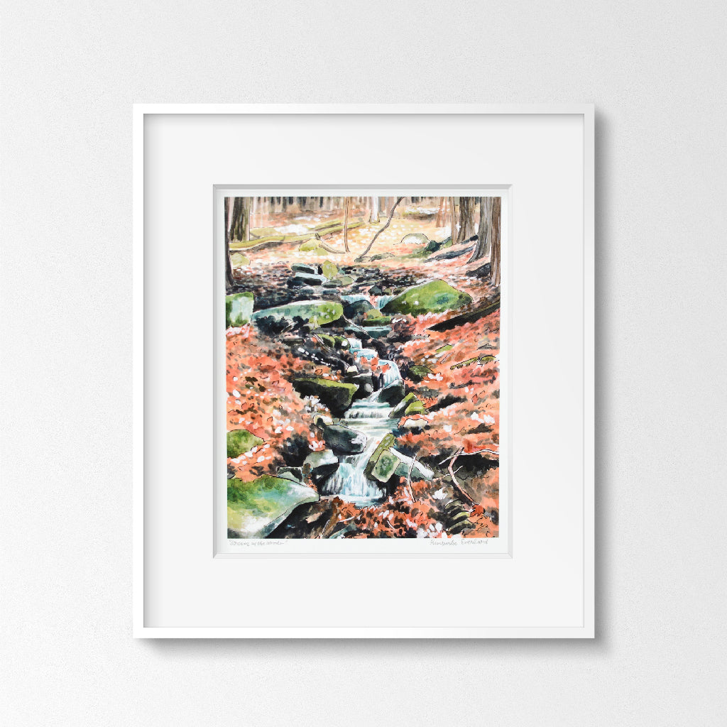 Stream in the Woods - Art Print - Everhard Designs Nature Art