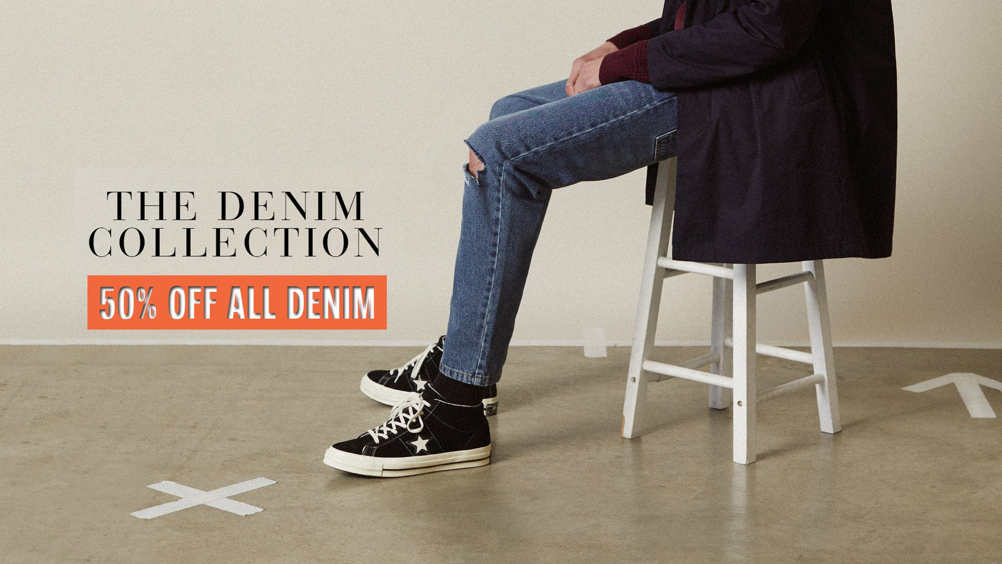 50% off Mens Denim Jeans
