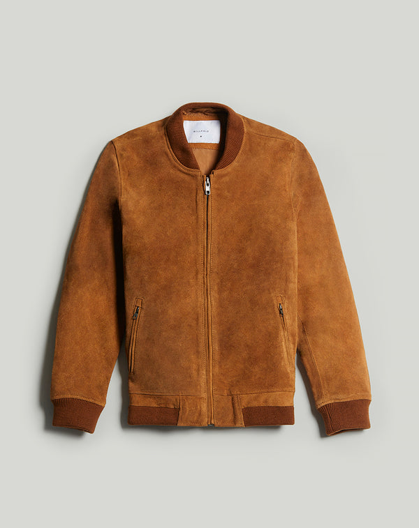 BELLFIELD PLATO SUEDE BOMBER MEN'S JACKET | TAN