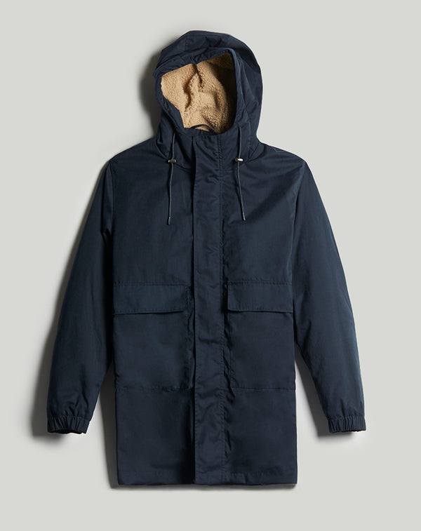 BELLFIELD RAKA SHERPA LINED MEN'S PARKA | NAVY