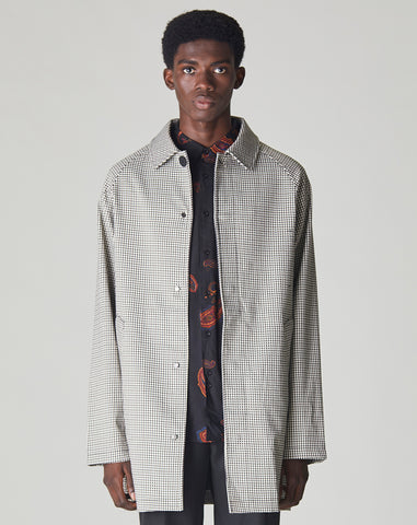 BELLFIELD AME MENS HOUNDSTOOTH MAC | BEIGE