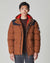 BELLFIELD HORRU COLOUR BLOCK MOUNTAIN MENS PUFFER JACKET | TOBACCO