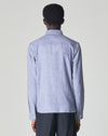 BELLFIELD INGESSEN LONG SLEEVE HERRINGBONE MENS SHIRT | MOOD BLUE