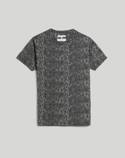 BELLFIELD SERPENT SNAKE SKIN PRINT MEN'S T-SHIRT | GREY