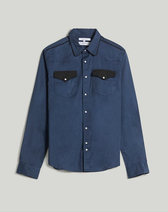 BELLFIELD ERSATZ WESTERN MEN'S SHIRT | NAVY