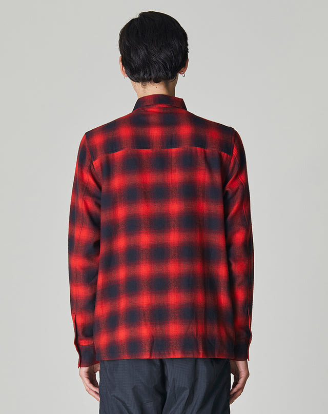 BELLFIELD MERRICK CHECK MENS OVERSHIRT | RED