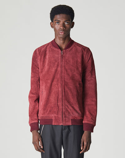 BELLFIELD PLATO SUEDE BOMBER MENS JACKET | PORT