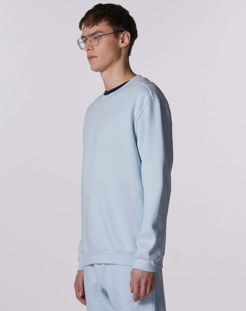BELLFIELD AZURITE MENS SWEATSHIRT | PALE BLUE