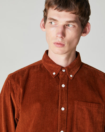 BELLFIELD CAESAR CORDUROY MENS SHIRT | OLD GOLD