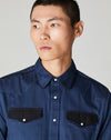 ERSATZ WESTERN MEN'S SHIRT | NAVY