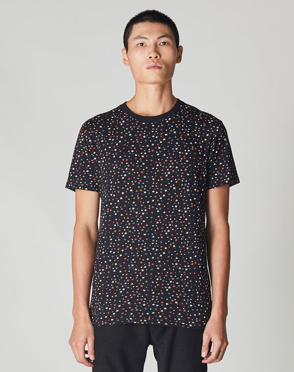 BELLFIELD ETOILE STAR PRINT MEN'S T-SHIRT | BLACK