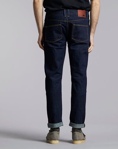 BELLFIELD GONZO CEREMONY REGULAR DENIM JEAN | DARK INDIGO VINTAGE WASH